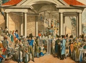 U zřídla v Karlových Varech se schází honorace z celé Evropy. Kdo nejezdí do lázní, jako by nebyl...