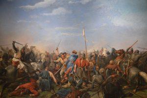 V bitvě u Stamford Bridge utrpí Vikingové porážku, jejich král umírá.
