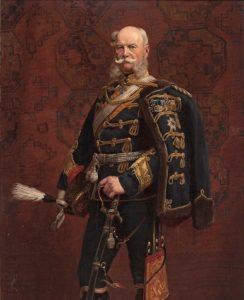 Vilém I. se na svého ministra zlobí.