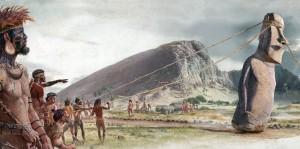 Český vědec Pavel Pavel proslul svou teorií, že velké kamenné sochy se daly přepravovat pomocí rozkývání. K tomu stačila pouze série lan a pák.