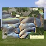 Červené tečky na mapě oblasti ukazují další objevy v okolí Stonehenge a Durington Walls.