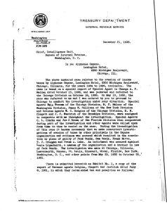 Zpráva Franka J. Wilsona, který Caponeho usvědčí z neplacení daní.