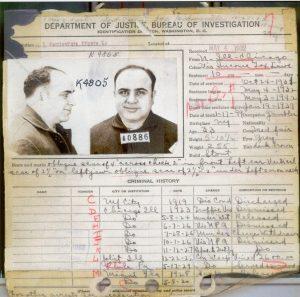 Záznam FBI o Alfonsu Caponem. Agenti si zapisovali každou maličkost.