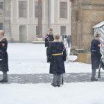 Nesmát se, nehýbat, stát rovně! Hradní stráž poslouchá jen prezidenta